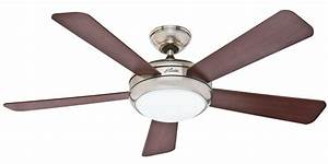 Hunter palermo ceiling fan in brushed nickel