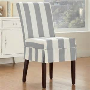 new relaxed fit with buttons striped dining room armless chair slipcover slate ebay