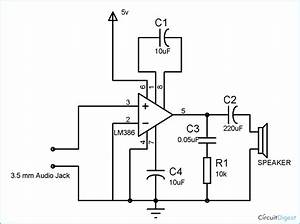 small loudspeaker circuit diagram using ic lm386 With phone wiring board
