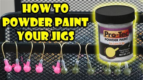 how to powder paint jig heads with pro tec t day ep 1