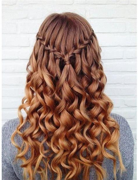 peinados con trenza cascada con rulos Trenzas Peinados