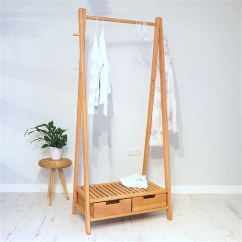 wooden clothes rack wooden clothes rail stockholm zaza homes