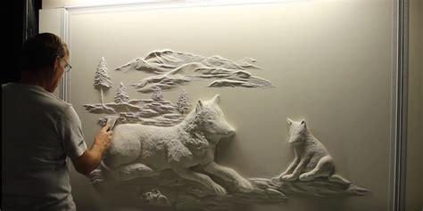 artist  ordinary drywall  create beautiful wall