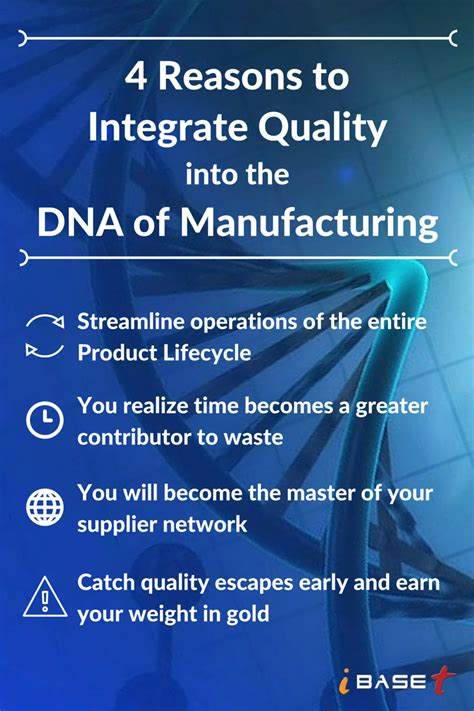 4 Reasons To Integrate Quality Into The Dna Of Manufacturing Ibaset