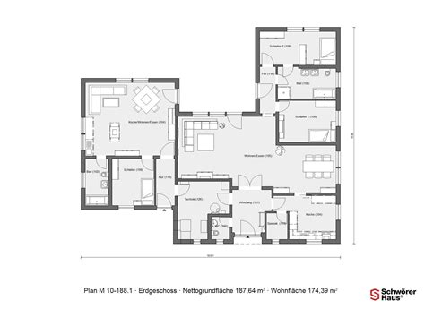 Bungalow Grundriss U Form by Haus U Form Grundrisse Wohn Design