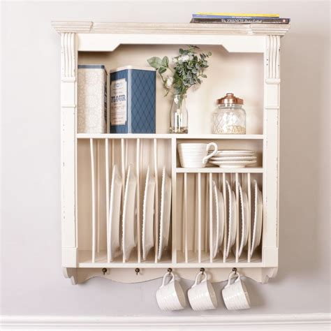 french country kitchen plate rack