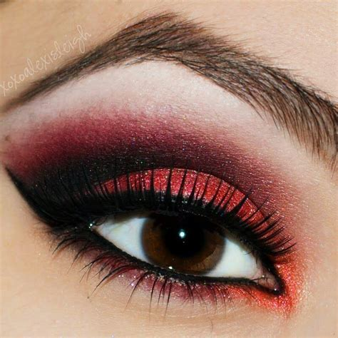 red eyeshadow images  pinterest