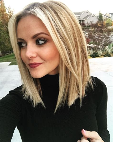 stylish sweet lob haircut ideas shoulder length
