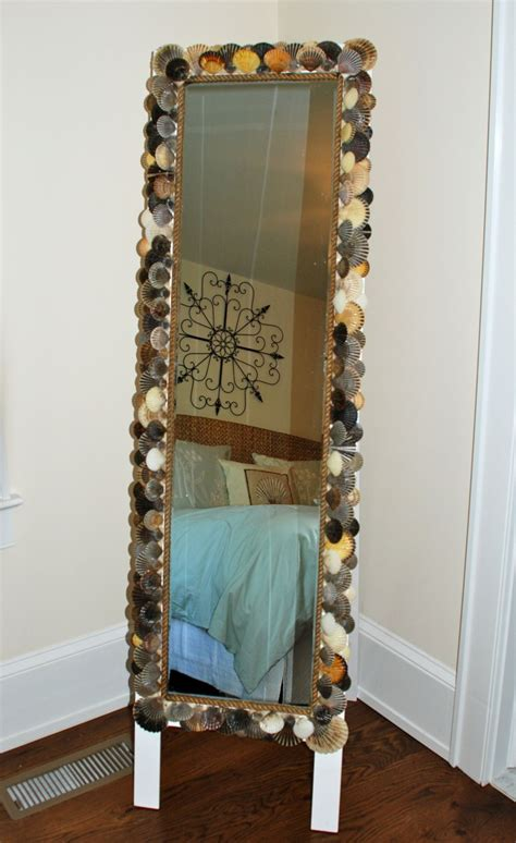 white length wall mirror seashell crafts that bring the into your home