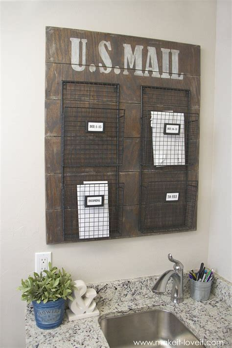 wall mounted mail organizerfrom scrap wood mail