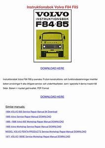 Instruktionsbok Volvo F84 F85 By Natishamusgrove