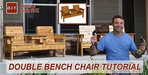 How to Make a Double Chair Bench DIY Patio Furniture