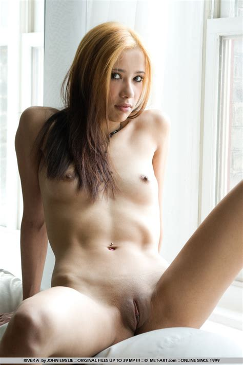 Sexy Canadian Asian Model River Spread Her Shaved Pussy Asian Sex