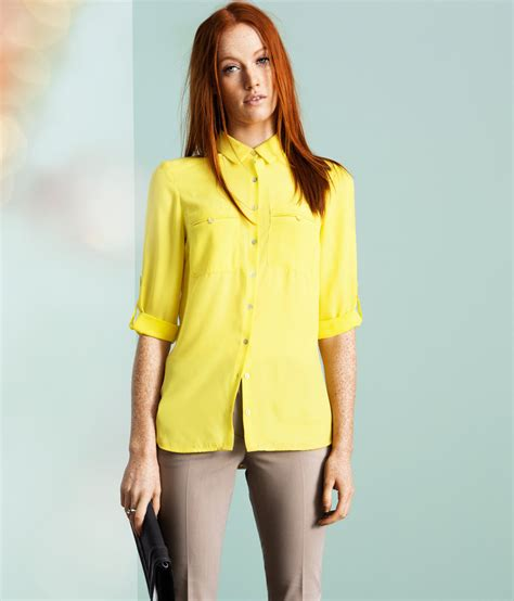 h m blouses h m blouse in yellow lyst