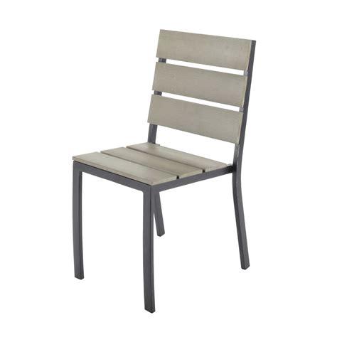 chaise de jardin maison du monde chaise de jardin en aluminium escale maisons du monde