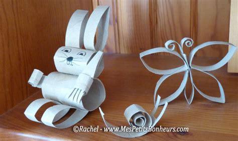 que faire avec des rouleaux de papier toilette vide bricolage avec des rouleaux de papier toilette lapin et papillon