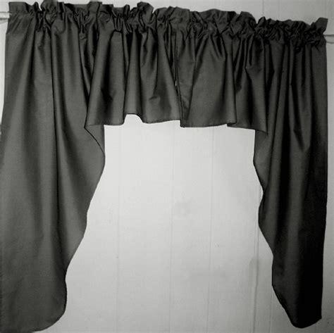 black swag window valance set