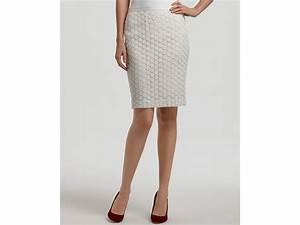 Karen kane Lace Pencil Skirt in White   Lyst