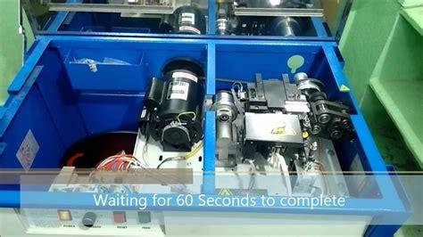 demo semi automatic strapping machine  je infotronix youtube
