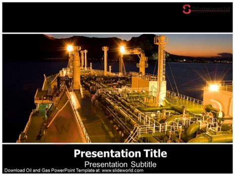 Oil And Gas Powerpoint Template Slide World