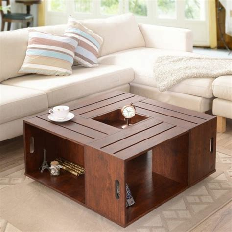 table pour salon de the choisir le meilleur design de la table basse avec rangement