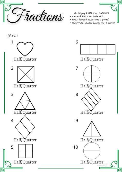 grade  math activity sheets identifying equal parts