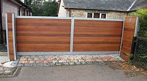 Portail Battant 5 Metres : prix d 39 un portail en bois co t moyen tarif de pose ~ Nature-et-papiers.com Idées de Décoration