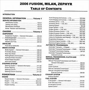 2006 Ford Fusion Mercury Milan Lincoln Zephyr Repair Shop