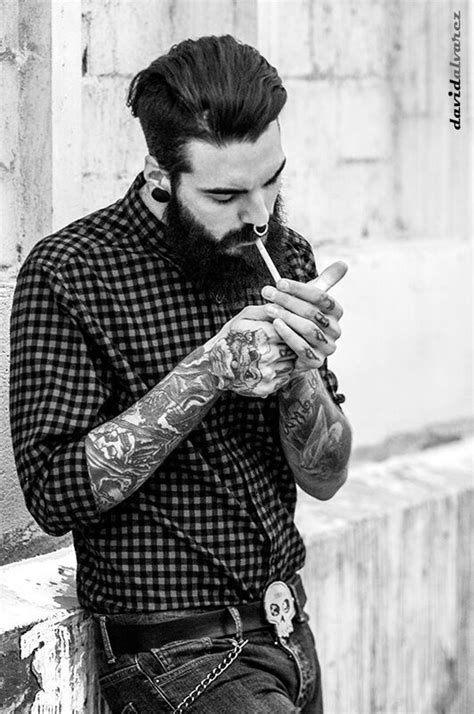 Edwar Tiger Photo: David Alvarez | Men crushes | Hair, beard styles, Beard tattoo, Beard styles