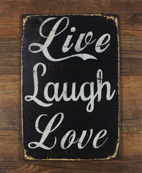 live laugh home decor live laugh inspirational quote tin sign metal wall