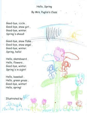 Kindergarten Poems About Spring
