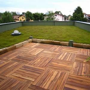 Pavimento in legno teak per esterno e giardino piastrella modulare quadrotta