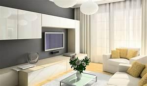 TV wall ideas living room modern minimalist style ...