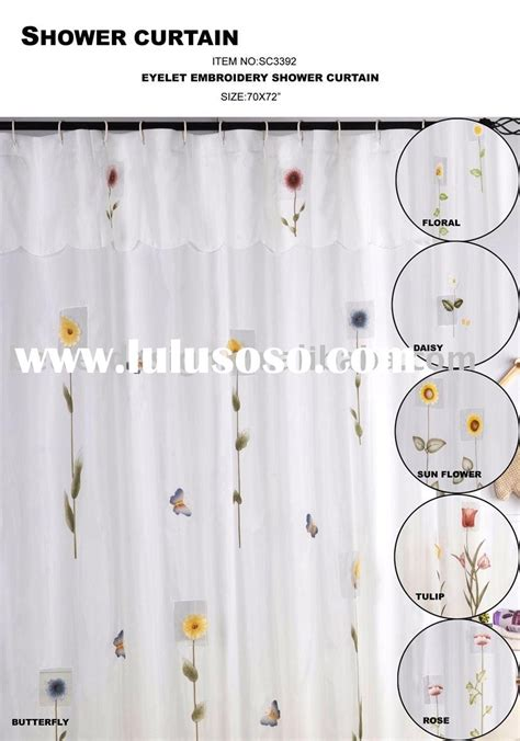 eyelet embroidery shower curtain for sale price china