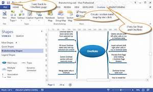 Create New Visio Brainstorming  Mindmap  Drawing In