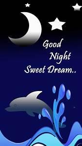 Good night with moon & star