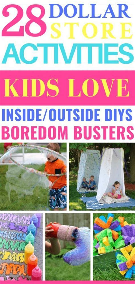 28 Dollar Store Activities For Kids Easy Boredom Busters