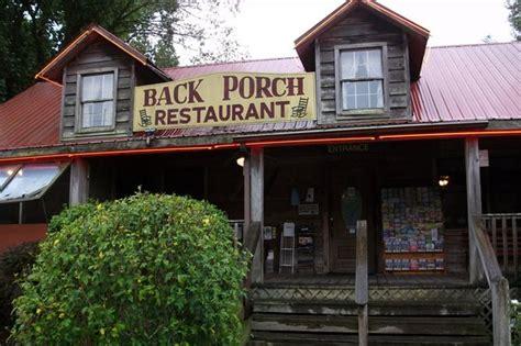 the porch cafe back porch restaurant townsend restaurant reviews