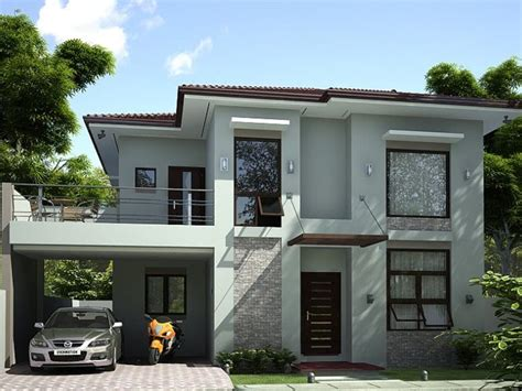 2 Simple Modern Homes With Simple Modern Furnishings by 2 Storey Simple Modern House Design Prefered House