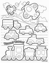 Transportation Coloring Transport Preschool Printable Worksheets Kindergarten Printables Worksheet Train Activities Math Pdf Land Dibujos Grade Toddlers Colorear Transporte Colouring sketch template