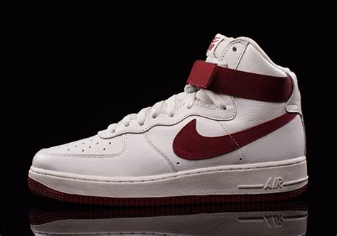 nike air force  high og white red sneakerfiles
