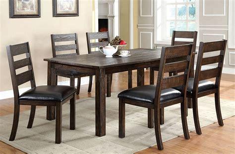cmt edmonton dining table  dark walnut woptional chairs