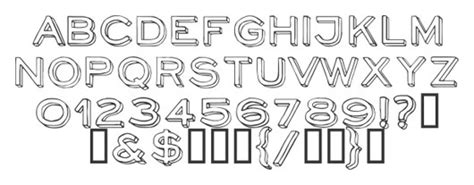 outstanding outlined fonts  designers skytechgeek