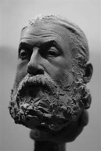 Easy Clay Sculptures : bearded old man W I P by