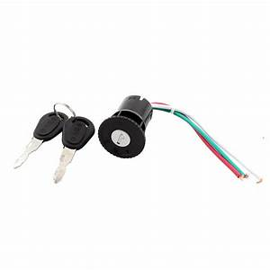 Scooter Motorcycle Electric Bike 3 Wires Ignition Switch