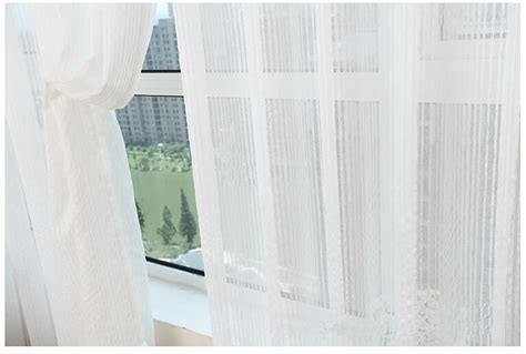White Sheer Voile Curtains by Aliexpress Buy Cheap Stripe Jacquard Transparent