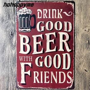 Plaque Vintage Metal : buy vintage tin beer signs antique decorative metal plaques beer carteles ~ Teatrodelosmanantiales.com Idées de Décoration
