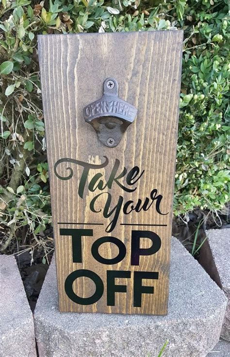 top bottle opener wall plaque black diy wood projects small wood projects