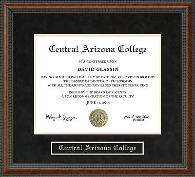 central arizona college cac diploma frame wordyisms