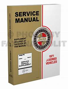 1971 Jeep Gladiator And Wagoneer Shop Manual Repair